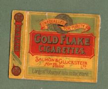 Rare Cigarette packet Gold Flake By Salmon & Gluckstein